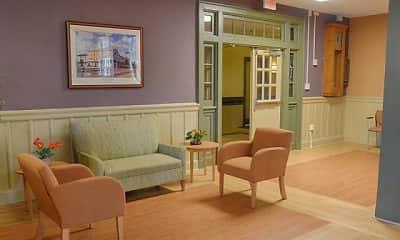 Living Room, Springside School Apartments, 2