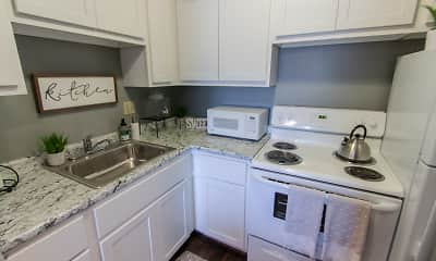 Kitchen, Romaine Court, 1