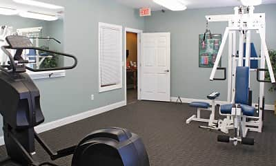 Fitness Weight Room, Landings At Cedar Creek Townhomes, 1