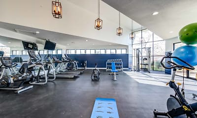 Fitness Weight Room, Deercross Apartments, 1