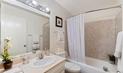 Bathroom, Parkview Apartments, 1