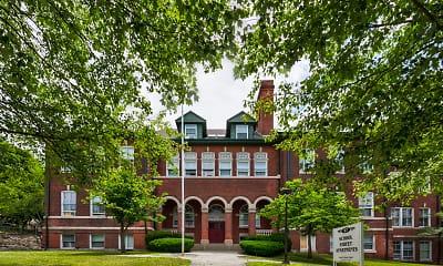 Building, School Street Apartments, 1