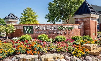 Community Signage, Village Woods Apartments, 2