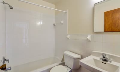 Bathroom, Penn Apartments, 2