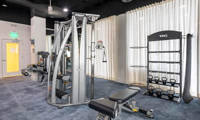 Fitness Weight Room, The Overlook at Daytona Apartment Homes, 1