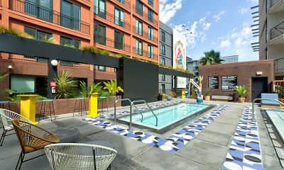Pool, El Centro Apartments & Bungalows, 1