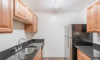 Kitchen, Shorewood Apartments, 1