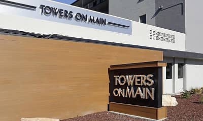 Community Signage, Towers on Main, 1
