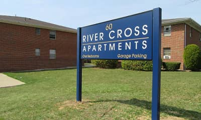 Community Signage, River Cross Apartments, 0
