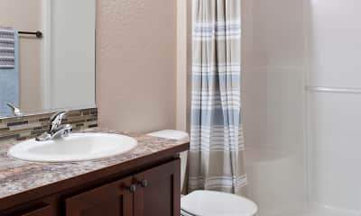 Bathroom, Residence At River Run Apartments, 1