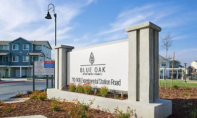 Community Signage, Blue Oak Apartments, 2