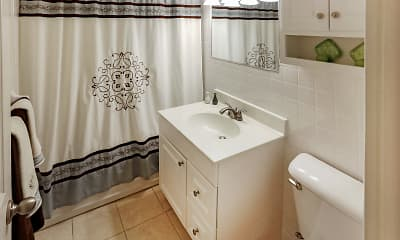 Bathroom, 1600 Elmwood Avenue Apartments, 2