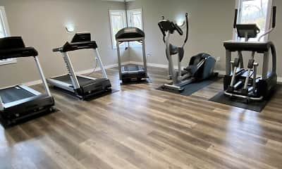 Fitness Weight Room, Cedar Lake Apartments, 2