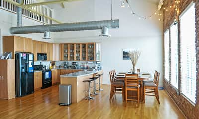 Dining Room, Broadway Lofts, 1