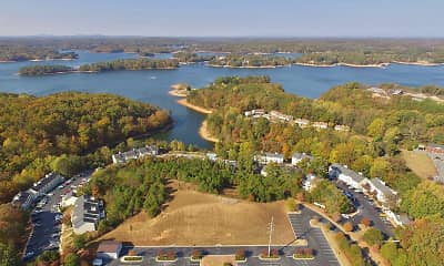 aerial view, Edgewater on Lanier, 2