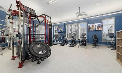 Fitness Weight Room, Camelot at Edison, 2