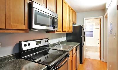 Kitchen, 401-407 Washington Apartments, 0