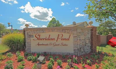 Community Signage, Sheridan Pond Apartments And Guest Suites, 1