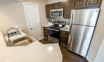 Kitchen, Pinecone Apartments, 0
