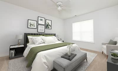 Bedroom, Crown Point at Kingsport Drive, 2