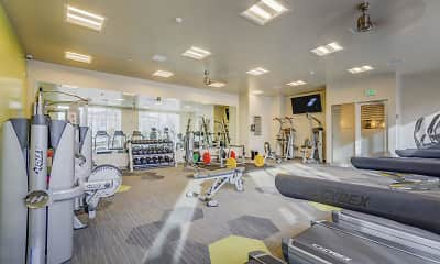 Fitness Weight Room, Encore Apartments, 2