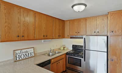 Kitchen, Imperial Heights Apartments, 0