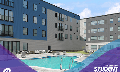 Pool, Auden Buffalo - Student Housing, 1