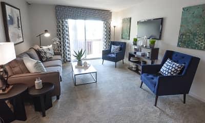 Living Room, Deer Ridge Apartments, 1