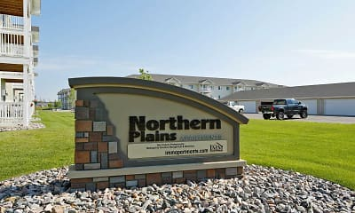 Community Signage, Northern Plains Apartments, 1