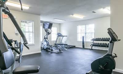 Fitness Weight Room, The Square at Lawrenceville, 2