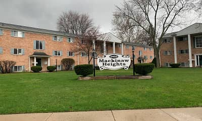 Community Signage, Mackinaw Heights Apartments, 1