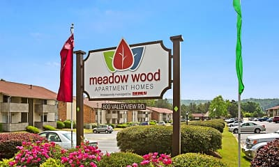 Community Signage, Meadow Wood Apartments, 1