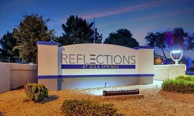 Reflections At Gila Springs, 2