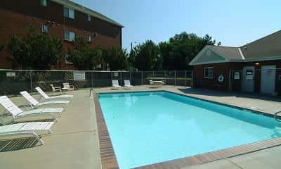 Pool, Deer Park Apartments, 1