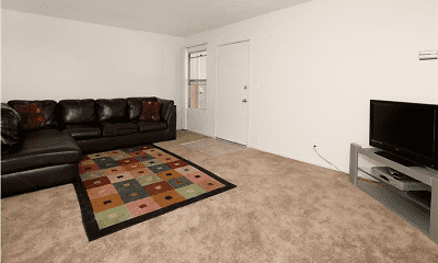 Living Room, Town Plaza Apartments, 1