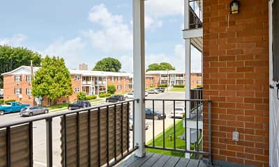 Patio / Deck, Allen Gardens Apartments, 2