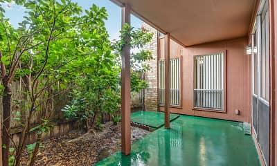 Patio / Deck, Heather Apartments, 2