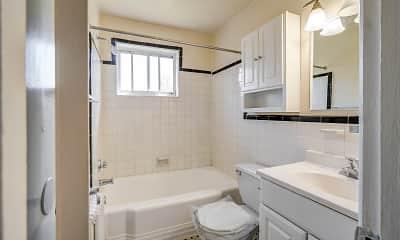 Bathroom, Manor Village Apartments, 2