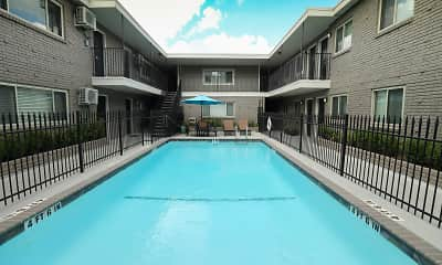 Pool, 220 West Alabama Street Apartments, 1