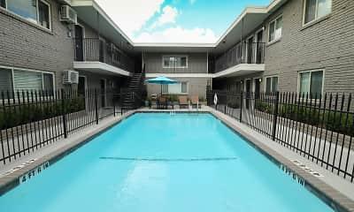 Pool, 220 West Alabama Street Apartments, 1