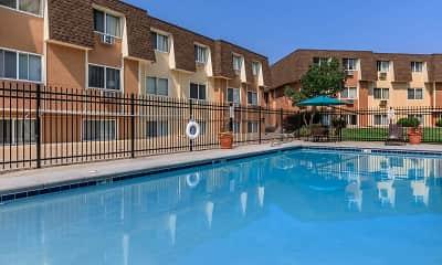 Pool, Pine Crest Apartments, 1