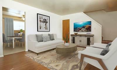 Living Room, Falcon Way Apartments, 0