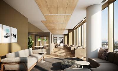 Living Room, Alcott Apartments, 2