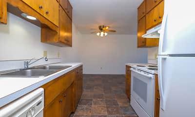 Kitchen, River North Apartments, 1