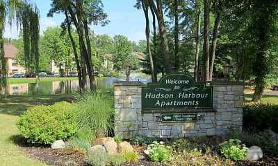 Community Signage, Hudson Harbour Apartments, 0