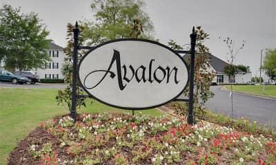 Community Signage, Avalon Apartments, 1