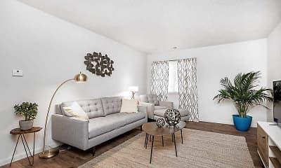 Living Room, Stadium Apartments, 0