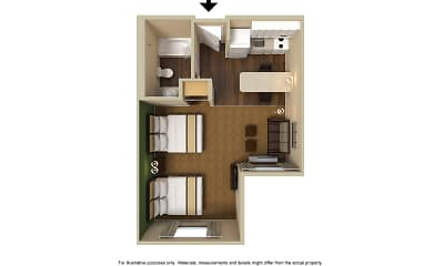 Furnished Studio - Indianapolis - West 86th St., 2
