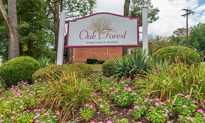 Community Signage, Oak Forest Apartments, 0