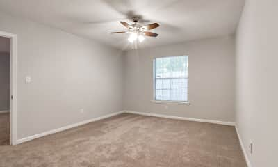 carpeted empty room featuring a ceiling fan and natural light, The Lory of Augusta, 2